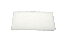 floor pad 250 x 120 x 25 mm, extra soft, white